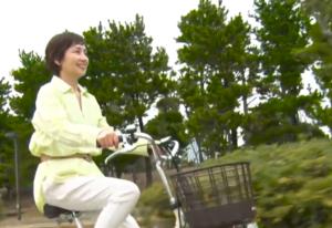 のった写真電動自転車