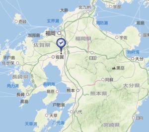 九州地図から見た位置